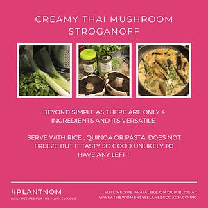 creamy thai mushroom stroganoff