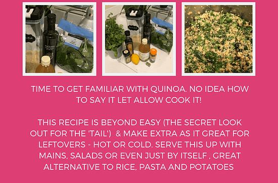 quinoa with spinach and chili