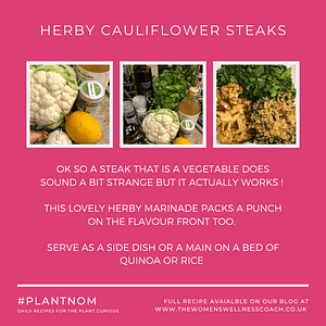herby cauliflower steaks